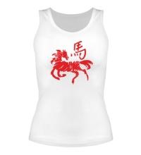 Женская майка Символ лошади