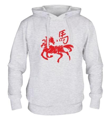 Толстовка с капюшоном Символ лошади