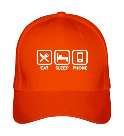 Бейсболка Eat sleep phone