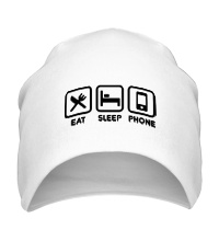 Шапка Eat sleep phone