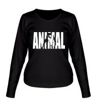 Женский лонгслив Animal