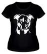Женская футболка «Питбуль» - Фото 1