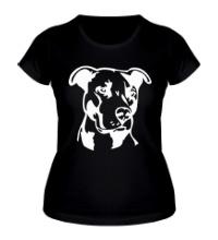 Женская футболка Питбуль