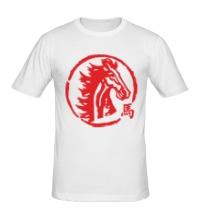 Мужская футболка Год лошади