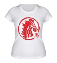 Женская футболка Год лошади