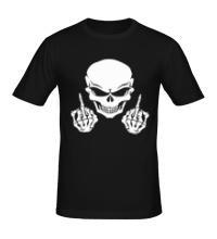 Мужская футболка Череп бунтаря
