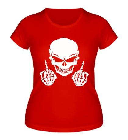 Женская футболка Череп бунтаря