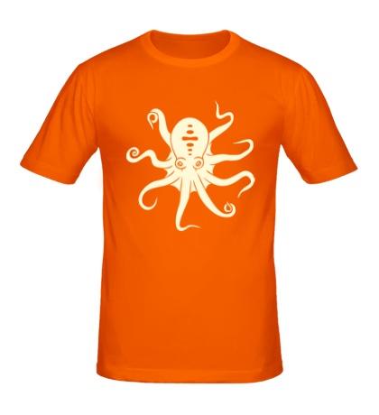 Мужская футболка Гигантский осьминог, свет