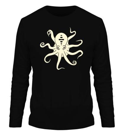 Мужской лонгслив Гигантский осьминог, свет
