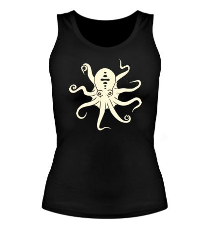 Женская майка Гигантский осьминог, свет