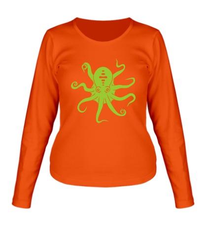 Женский лонгслив Гигантский осьминог