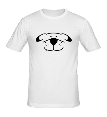 Мужская футболка «Морда собачки»