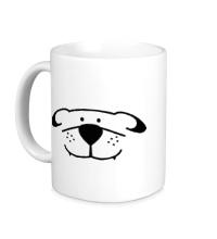 Керамическая кружка Морда собачки