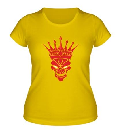 Женская футболка Череп короля