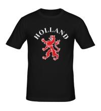 Мужская футболка Голландия лев
