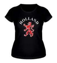 Женская футболка Голландия лев