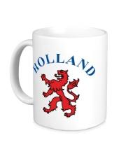 Керамическая кружка Голландия лев