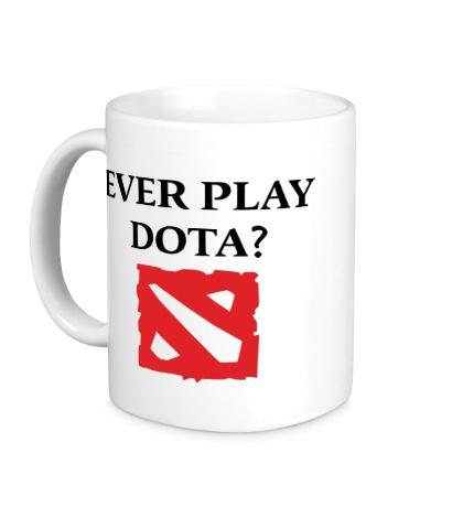 Керамическая кружка Ever play Dota?