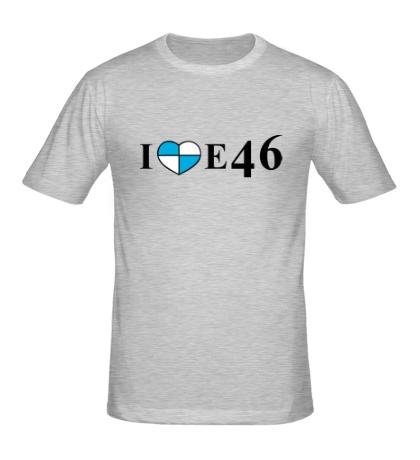 Мужская футболка «I love e46»