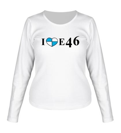 Женский лонгслив I love e46