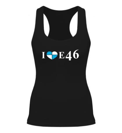 Женская борцовка «I love e46»