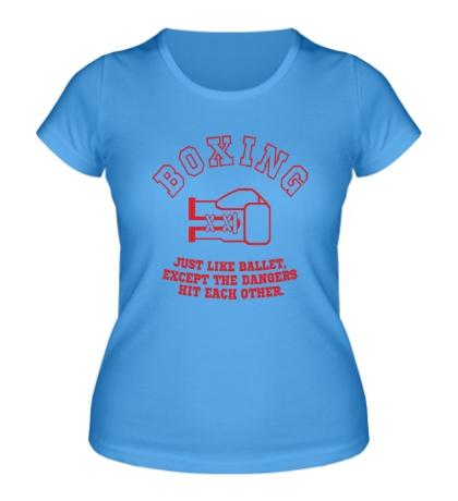 Женская футболка Boxing like ballet