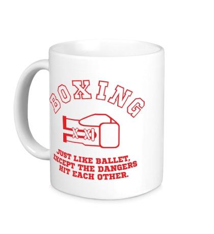 Керамическая кружка Boxing like ballet