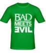 Мужская футболка «Bad Meets Evil» - Фото 1