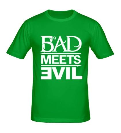 Мужская футболка Bad Meets Evil