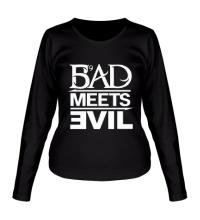Женский лонгслив Bad Meets Evil