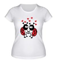 Женская футболка Влюбленные божьи коровки