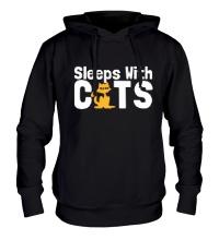 Толстовка с капюшоном Sleeps with cats