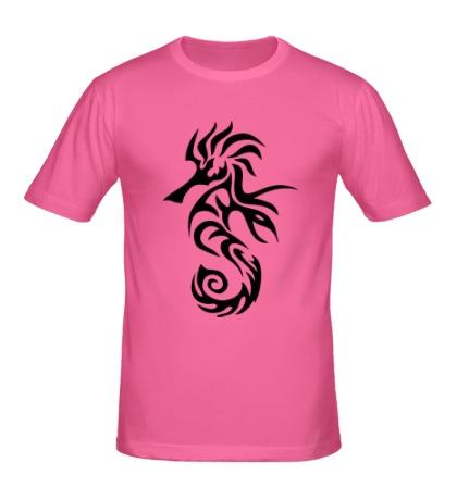 Мужская футболка Тату морской конек