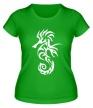 Женская футболка «Тату морской конек» - Фото 1
