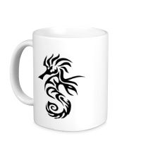 Керамическая кружка Тату морской конек