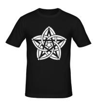 Мужская футболка Звезда узор
