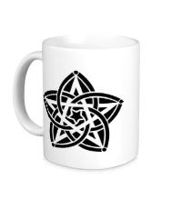 Керамическая кружка Звезда узор