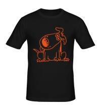 Мужская футболка Смешная собака