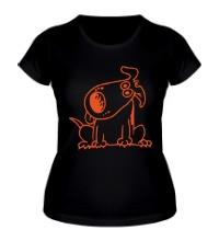 Женская футболка Смешная собака
