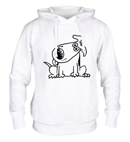 Толстовка с капюшоном «Смешная собака»