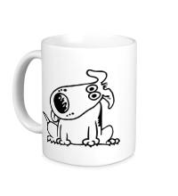 Керамическая кружка Смешная собака