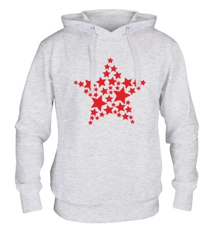 Толстовка с капюшоном Космическая звезда