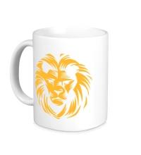 Керамическая кружка Царский лев