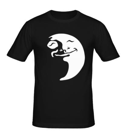 Мужская футболка Довольная Луна