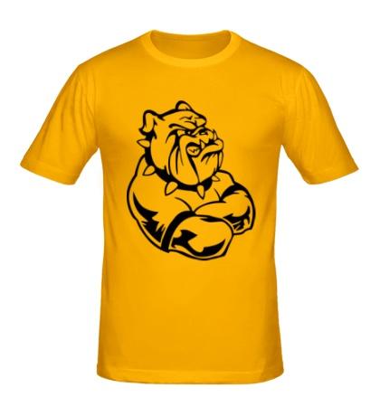 Мужская футболка Бульдог-бодибилдер