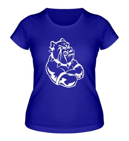Женская футболка Бульдог-бодибилдер