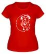Женская футболка «Песик на луне» - Фото 1