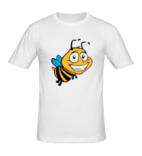 Мужская футболка Улыбчивая пчелка