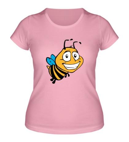 Женская футболка «Улыбчивая пчелка»