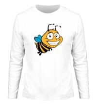 Мужской лонгслив Улыбчивая пчелка